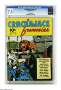 Golden Age (1938-1955):Miscellaneous, Crackajack Funnies #19 (Dell, 1940) CGC VF- 7.5 Off-white pages. Don Winslow of the Navy is featured. The only copy CGC has ...