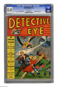 Detective Eye #1 (Centaur, 1940) CGC VG/FN 5.0 Off-white pages. If you're lying awake nights wondering what happened to...