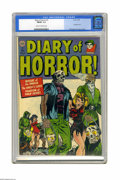 Golden Age (1938-1955):Horror, Diary of Horror #1 (Avon, 1952) CGC FN/VF 7.0 Cream to off-whitepages. This bondage cover by Alvin C. Hollingsworth shows w...