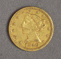 Political:Civil War, 1849-D $5 GOLD HALF EAGLE FROM THE DAHLONEGA, GEORGIA MINT....