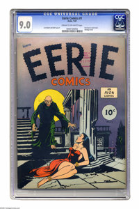 Eerie #1 (Avon, 1947) CGC VF/NM 9.0 Cream to off-white pages. This is the first-ever horror comic book according to CGC...