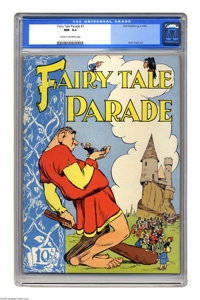 Fairy Tale Parade #1 (Dell, 1942) CGC NM- 9.2 Cream to off-white pages. Pogo creator Walt Kelly had a long and varied ca...