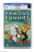 Golden Age (1938-1955):Miscellaneous, Famous Funnies #66 (Eastern Color, 1940) CGC VF 8.0 Off-white to white pages. Characters include Buck Rogers. Overstreet 200...