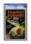 Golden Age (1938-1955):Science Fiction, Famous Funnies #212 (Eastern Color, 1954) CGC VF+ 8.5 White pages.This issue's Frank Frazetta cover featuring Buck Rogers s...