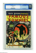 Golden Age (1938-1955):Science Fiction, Famous Funnies #213 (Eastern Color, 1954) CGC VF- 7.5 Cream tooff-white pages. Frank Frazetta's incredible Buck Rogers cove...