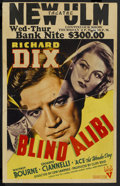 "Movie Posters:Crime, Blind Alibi (RKO, 1938). Window Card (14"" X 22""). Crime. ..."