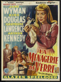"Movie Posters:Drama, The Glass Menagerie (Warner Brothers, 1950). Belgian (14.2"" X 19""). Drama. ..."