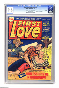"First Love Illustrated #13 File Copy (Harvey, 1951) CGC NM+ 9.6 Cream to off-white pages. ""I Joined A Teen-Age Sex..."