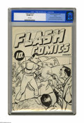 Golden Age (1938-1955):Superhero, Flash Comics Ashcan Edition #1 (Fawcett, 1940) CGC VF/NM 9.0 White pages. The first printed appearance of Captain Marvel was...