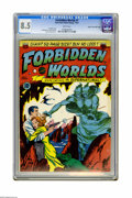 Golden Age (1938-1955):Science Fiction, Forbidden Worlds #1 Mile High pedigree (ACG, 1951) CGC VF+ 8.5White pages. Frank Frazetta was known for occasionally lendin...