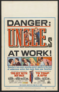 """Movie Posters:Thriller, U.N.C.L.E. Combo Poster (The Spy With My Face and To Trap a Spy) (MGM, 1966). Window Card (14"""" X 22""""). Thriller. . ..."""