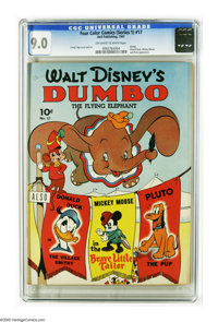 Four Color (Series One) #17 Dumbo (Dell, 1941) CGC VF/NM 9.0 Off-white to white pages. This is the first comic book devo...