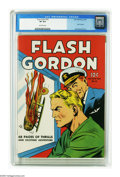 Golden Age (1938-1955):Science Fiction, Four Color #10 Flash Gordon (Dell, 1942) CGC VF 8.0 Off-whitepages. Here's one of the comic books eagerly sought out by the...