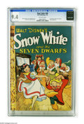 Golden Age (1938-1955):Cartoon Character, Four Color #49 Snow White and the Seven Dwarfs (Dell, 1944) CGC NM 9.4 Off-white pages. Walt Disney's first feature-film sta...