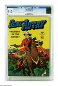 Golden Age (1938-1955):Western, Four Color #57 Gene Autry - Crowley Copy pedigree (Dell, 1944) CGC VF/NM 9.0 Off-white to white pages. After a brief run pub...