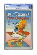 Golden Age (1938-1955):Cartoon Character, Four Color #71 Walt Disney's Three Caballeros (Dell, 1945) CGC VF/NM 9.0 White pages. It's hard to believe this gorgeous cop...