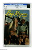 Golden Age (1938-1955):Western, Four Color #86 Roy Rogers - Crowley Copy pedigree (Dell, 1945) CGCVF/NM 9.0 Cream to off-white pages. Photos of the King of...