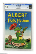 Golden Age (1938-1955):Funny Animal, Four Color #105 Albert the Alligator and Pogo Possum - Vancouverpedigree (Dell, 1946) CGC VF/NM 9.0 White pages. Walt Kelly...