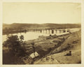 Military & Patriotic:Civil War, PHOTO NEARLY COMPLETED MARKET ST. BRIDGE CHATTANOOGA....