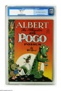 Golden Age (1938-1955):Funny Animal, Four Color #148 Albert the Alligator and Pogo Possum (Dell, 1947)CGC NM- 9.2 White pages. Walt Kelly artwork fills the page...