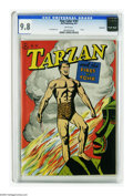 Golden Age (1938-1955):Adventure, Four Color #161 Tarzan and the Fires of Tohr - Vancouver pedigree (Dell, 1947) CGC NM/MT 9.8 White pages. Here's the prettie...