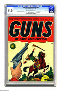 Golden Age (1938-1955):Western, Guns of Fact and Fiction #13 Vancouver pedigree (MagazineEnterprises, 1948) CGC NM+ 9.6 Off-white to white pages. Alsoknow...