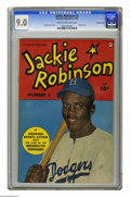 """Golden Age (1938-1955):Non-Fiction, Jackie Robinson #2 Crowley Copy pedigree (Fawcett, 1950) CGC VF/NM9.0 Cream to off-white pages. Brooklyn's own """"Dashing Dod..."""