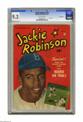 """Golden Age (1938-1955):Miscellaneous, Jackie Robinson #5 Crowley Copy pedigree (Fawcett, 1951) CGC NM- 9.2 Off-white pages. Oh, for the days when """"Da Bums"""" ruled ..."""