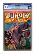 Golden Age (1938-1955):Adventure, Jungle Comics #2 (Fiction House, 1940) CGC VF+ 8.5 Off-white to white pages. This dynamic cover is credited to the great Wil...
