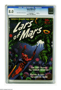 Golden Age (1938-1955):Science Fiction, Lars of Mars #11 (Ziff-Davis, 1951) CGC VF 8.0 Off-white to whitepages. Lars of Mars' creator Jerry Siegel was once quoted ...