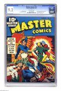 Golden Age (1938-1955):Superhero, Master Comics #22 (Fawcett, 1942) CGC NM- 9.2 Off-white pages. Thefirst cover appearance of Captain Marvel Jr. is just his ...