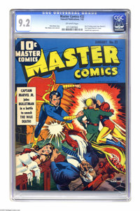 Master Comics #22 (Fawcett, 1942) CGC NM- 9.2 Off-white pages. The first cover appearance of Captain Marvel Jr. is just...
