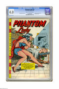 Golden Age (1938-1955):Superhero, Phantom Lady #15 (Fox Features Syndicate, 1947) CGC VG 4.0 Cream to off-white pages. Once you've seen Matt Baker's cover, do...