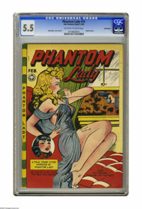 Phantom Lady #16 Recil Macon pedigree (Fox Features Syndicate, 1948) CGC FN- 5.5 Off-white to white pages. Matt Baker tu...