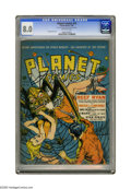 Golden Age (1938-1955):Science Fiction, Planet Comics #19 (Fiction House, 1942) CGC VF 8.0 Off-white pages.If spiders give you the creepy-crawlies, you might not w...