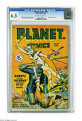 Golden Age (1938-1955):Science Fiction, Planet Comics #54 (Fiction House, 1948) CGC FN+ 6.5 Cream tooff-white pages. Matt Baker, Joe Doolin, and George Evans art. ...