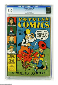 Popular Comics #31 (Dell, 1938) CGC VG/FN 5.0 Off-white to white pages. Tim McCoy, Mutt and Jeff, and Tailspin Tommy app...