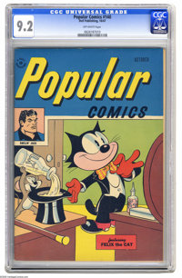 Popular Comics #140 (Dell, 1947) CGC NM- 9.2 Off-white pages. Featuring Felix the Cat. This is the only copy certified b...
