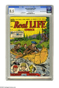 Golden Age (1938-1955):Non-Fiction, Real Life Comics #50 Mile High pedigree (Nedor Publications, 1949)CGC VF+ 8.5 Off-white to white pages. Imagine, if you wil...