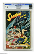 Golden Age (1938-1955):Miscellaneous, Shadow Comics V9#3 (Street & Smith, 1949) CGC NM 9.4 Off-white to white pages. Street and Smith's two heavy-hitters, the Sha...
