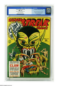 Silver Streak Comics #6 (Lev Gleason, 1940) CGC NM- 9.2 Cream to off-white pages. The origin and first appearance of the...