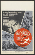 "Movie Posters:Adventure, The Naked Prey (Paramount, 1965). Window Card (14"" X 22"").Adventure. ..."