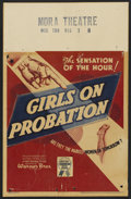 "Movie Posters:Crime, Girls on Probation (Warner Brothers, 1938). Window Card (14"" X22""). Crime. ..."
