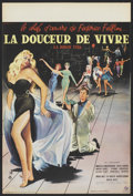 "Movie Posters:Foreign, La Dolce Vita (Cineriz, 1960). French Petite (15.7"" X 23.6"").Foreign. ..."