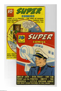 Golden Age (1938-1955):Miscellaneous, Super Comics #20 and 21 Group (Dell, 1940) Condition: Average VG/FN. Issue #21 has the origin and first appearance of Magic ... (Total: 2)