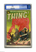 Golden Age (1938-1955):Horror, The Thing! #2 River City pedigree (Charlton, 1952) CGC NM 9.4 Creamto off-white pages. What is the Thing? Something lurking...
