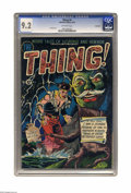 Golden Age (1938-1955):Horror, The Thing! #4 Northford pedigree (Charlton, 1952) CGC NM- 9.2Off-white pages. Artist Al Fago created many a cover during th...