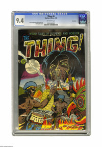 The Thing! #6 Northford pedigree (Charlton, 1953) CGC NM 9.4 Off-white pages. A spooky-looking African voodoo ritual set...