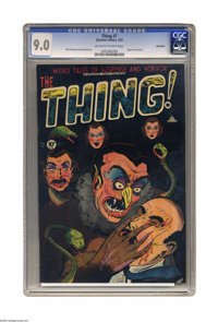 The Thing! #7 Northford pedigree (Charlton, 1953) CGC VF/NM 9.0 Off-white to white pages. Lou Morales' cover to this iss...