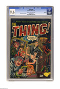 Golden Age (1938-1955):Horror, The Thing! #8 Bethlehem pedigree (Charlton, 1953) CGC NM+ 9.6 Creamto off-white pages. While this title is noted for its of...